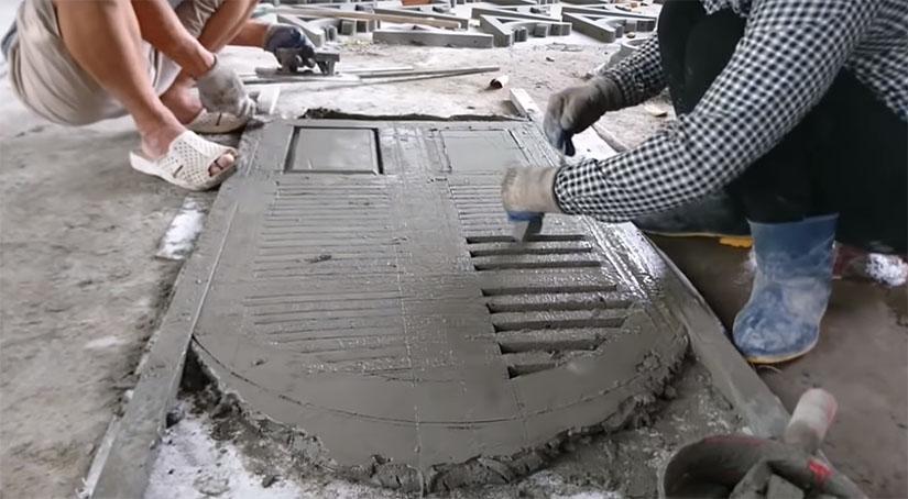Двери из бетона состав бетонной отмостки смеси