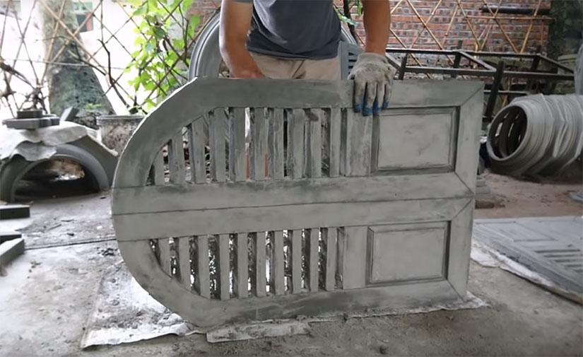 Дверь из бетона вибрация бетон